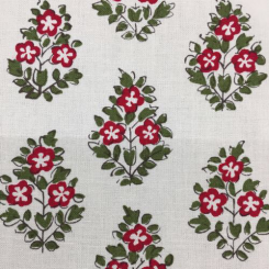 9 Yards Diamond Floral  Print  Fabric