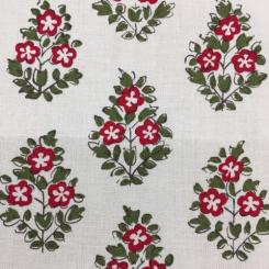 9 Yards Diamond Floral  Print  Fabric