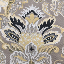 2 3/4 Yards Damask Floral  Embroidered  Fabric