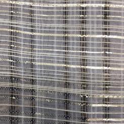 4 3/4 Yards Plaid/Check  Sheer  Fabric