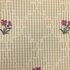 6 1/4 Yards Floral Nature  Embroidered  Fabric