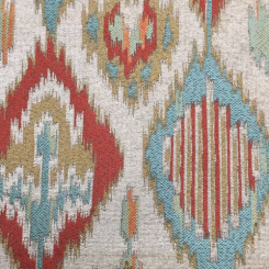 3 3/4 Yards Diamond Ikat  Woven  Fabric