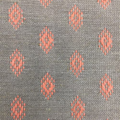 1 3/4 Yards Diamond Geometric  Embroidered  Fabric