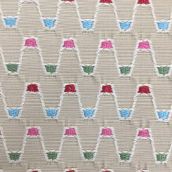 1 1/2 Yards Abstract Polka Dots  Embroidered Woven  Fabric