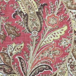 6 Yards Damask Floral  Print  Fabric