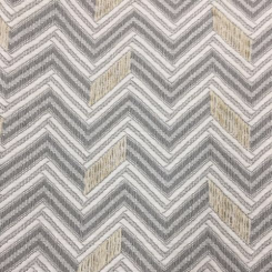 2 1/2 Yards Chevron  Embroidered Woven  Fabric