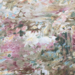 2 1/2 Yards Abstract Floral  Print  Fabric