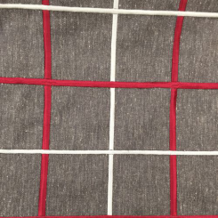 1 1/2 Yards Plaid/Check  Embroidered  Fabric