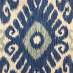 2 1/2 Yards Ikat  Print  Fabric