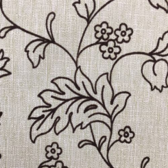 2 3/4 Yards Floral  Embroidered Woven  Fabric