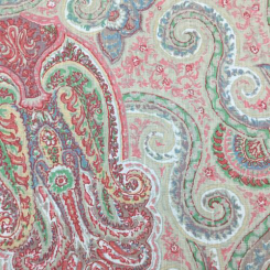 2 3/4 Yards Paisley  Print  Fabric