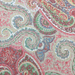 1 1/4 Yards Paisley  Print  Fabric