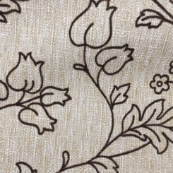 1 1/4 Yards Floral  Embroidered Woven  Fabric