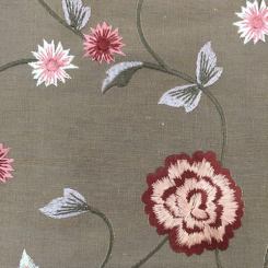 3 Yards Floral  Embroidered  Fabric
