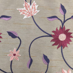 1 1/4 Yards Floral  Embroidered  Fabric