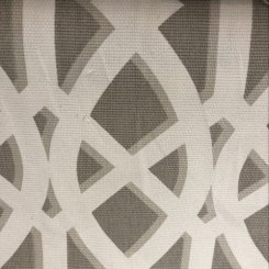 Cotton Basketweave Interlocking Design Upholstery Fabric (A)