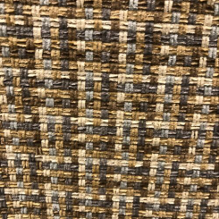 Basketweave Brown Fabric (A)