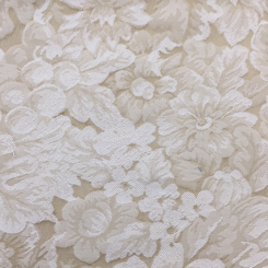 4 Yards Floral  Woven  Fabric
