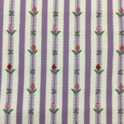 3 Yards Floral Stripe  Embroidered Woven  Fabric