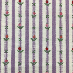 2 1/2 Yards Floral Stripe  Embroidered Woven  Fabric