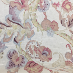4 1/2 Yards Floral Nature  Print  Fabric