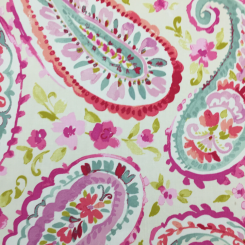 4 Yards Floral Paisley  Print  Fabric