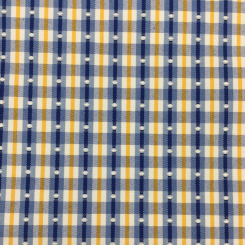 4 3/4 Yards Polka Dots Stripe  Embroidered Woven  Fabric