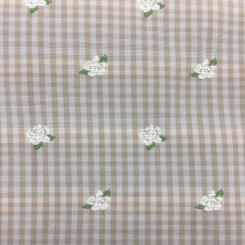 2 1/4 Yards Floral Geometric  Embroidered Woven  Fabric