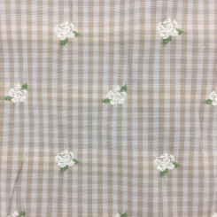 2 1/2 Yards Floral Geometric  Embroidered Woven  Fabric