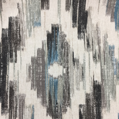 3 3/4 Yards Abstract Ikat  Print  Fabric