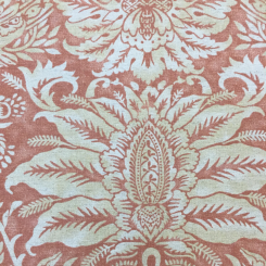 5 Yards Damask Floral  Print  Fabric