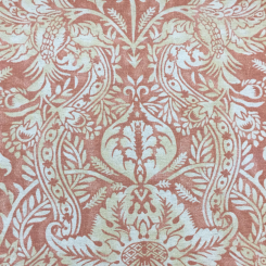 6 1/4 Yards Damask Floral  Print  Fabric