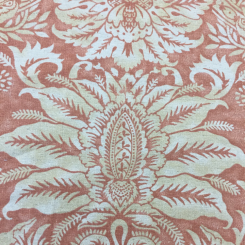 4 1/2 Yards Damask Floral  Print  Fabric