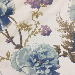 5 1/2 Yards Floral  Velvet  Fabric