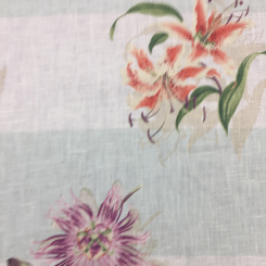 4 3/4 Yards Floral Nature  Print  Fabric