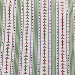 6 Yards Floral Polka Dots  Embroidered Woven  Fabric