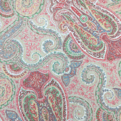 5 Yards Damask Paisley  Print  Fabric