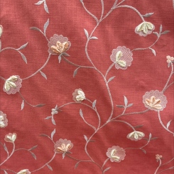 Embroidered Heirloom Coral (H)