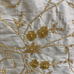 Beautiful Embroidered Silk (H)