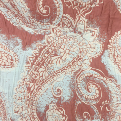 2 Yards Paisley  Embroidered  Fabric