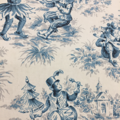 6 Yards Toile  Print  Fabric