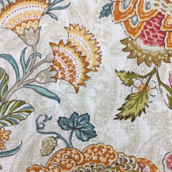 4 1/4 Yards Floral Traditional  Print  Fabric