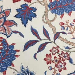 7 Yards Floral Traditional  Print  Fabric
