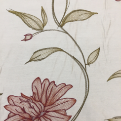 4 3/4 Yards Floral Traditional  Embroidered Sheer  Fabric