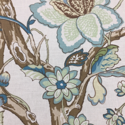 3 1/2 Yards Floral Traditional  Print  Fabric