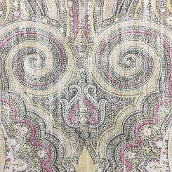 8 Yards Damask Traditional  Print  Fabric