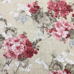 5 1/4 Yards Floral Traditional  Print  Fabric