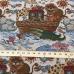 18 Yards Animal Children  Woven  Fabric