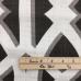 1 Yard Abstract Diamond  Basket Weave  Fabric