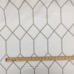 3 Yards Diamond Geometric  Embroidered  Fabric